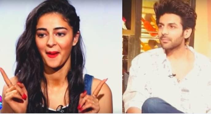 Upcoming Film Pati, Patni Aur Woh Star Kartik Aaryan and Ananya Panday Romantic set footage leaked