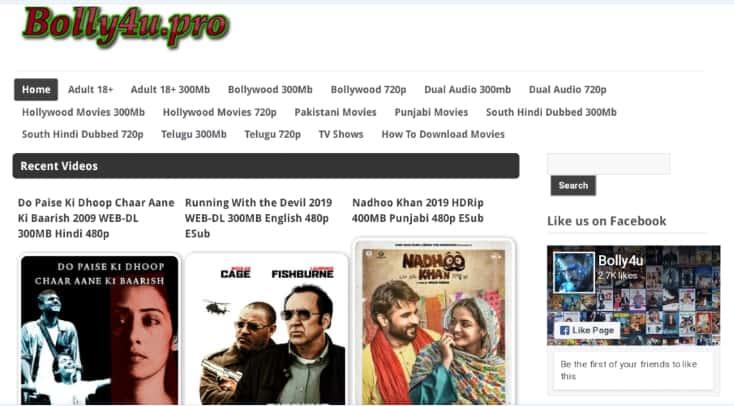 Bolly4u 2019 Bollywood Hollywood Tamil Hindi Dubbed 300mb Movies Download